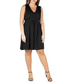 Women's Plus Size Empire Waist Sleeveless Party Dress