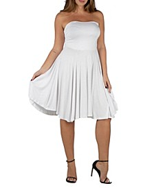 Women's Plus Size Pleated Summer Dress