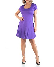Women's Plus Size Short Sleeve T-Shirt Dress
