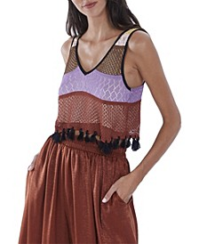 Women's Crochet Fringe Tank Top
