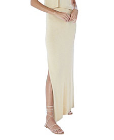ALLISON NEW YORK Women's Metallic Maxi Skirt