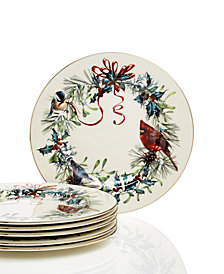 Lenox Winter Greetings Set of 6 Salad Plates