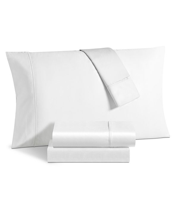 Sunham Avalon 500 Thread Count Sateen 6-Pc. Solid Queen Sheet Set