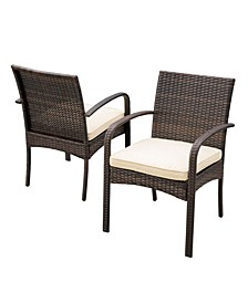Rosario Outdoor Dining Chairs, Set of 2