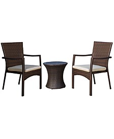 Wilmington Outdoors 3 Piece Stacking Chair Chat Set