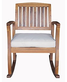 Dewitt Outdoor Rocking Chair with Cushion