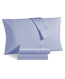 Avalon 500 Thread Count Sateen 6-Pc. Solid Queen Sheet Set