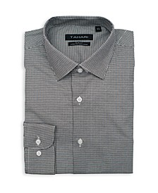 Men's Slim Fit Non-Iron, Wrinkle Resistant Performance Stretch Dress Shirt - Gingham Check