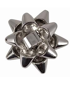 Present Silver tone Snap