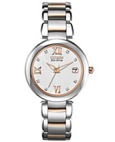 9c33a47391f Citizen Women s Eco-Drive Signature Diamond Accent Two-Tone Stainless Steel  Bracelet Watch 33mm