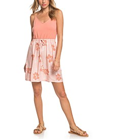 Juniors' Moon Mouth Strappy Printed Dress