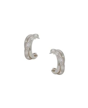 Ettika CRYSTAL INTERTWINED SMALL HOOP WOMEN'S EARRINGS