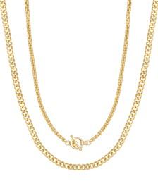 Double Chain Women's Necklace Set