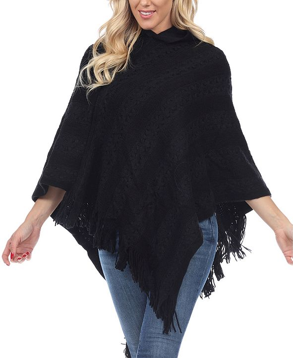 White Mark Women's Casandra Poncho