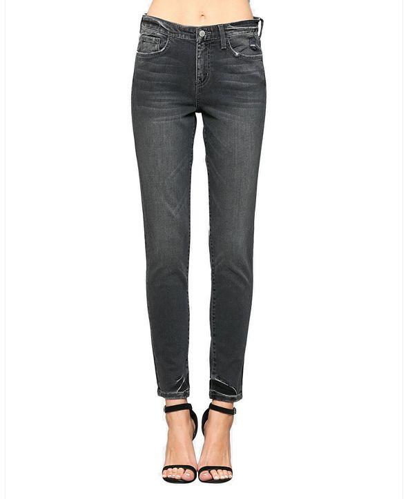 FLYING MONKEY High Rise Hem Tacking Skinny Ankle Jeans