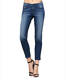 Mid Rise Super Stretch Skinny Ankle Jeans