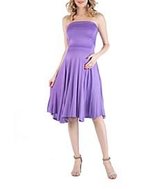Sleeveless Maternity Midi Dress