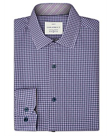Con.Struct Men's Slim-Fit Performance Stretch Cooling Comfort Purple Gingham Check Dress Shirt, Created for Macy's