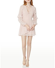 Ruffled Chiffon Mini Dress