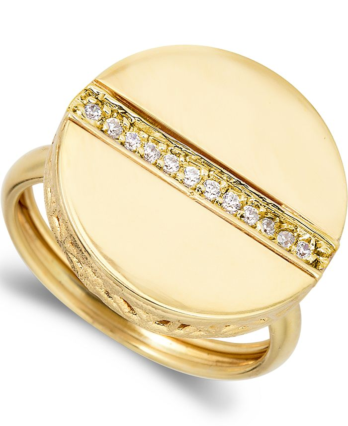 Macy's - 1/8CTW 18k YELLOW Gold over STERLING SILVER