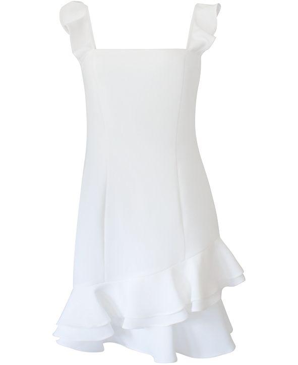 BCBGeneration Ruffled Fit & Flare Dress