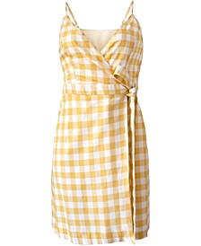 Woven Gingham Tie Dress