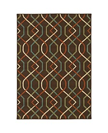 "Negril NEG10 Brown 8'6"" x 13' Area Rug"