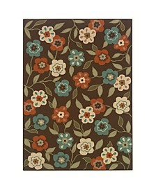 """Negril NEG02 Brown 6'7"""" x 9'6"""" Area Rug"""