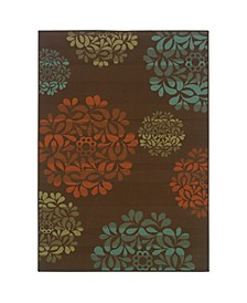 """Negril NEG04 Brown 6'7"""" x 9'6"""" Area Rug"""
