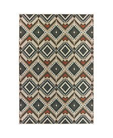 "Scope SCO02 Gray 6'7"" x 9'2"" Area Rug"