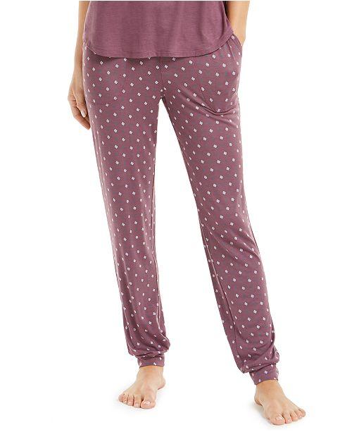 Alfani Super-Soft Knit Jogger Pajama Pants, Created for Macy's