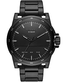 Men's D48 Black Stainless Steel Bracelet Watch 48mm