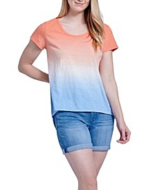 Tie Dye Scooped Relaxed Tee