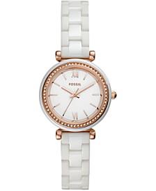 Women's Carlie White Ceramic Bracelet Watch 28mm