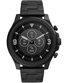 Men's Tech Latitude HR Black Stainless Steel Bracelet Hybrid Smart Watch 48mm