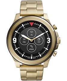 Men's Tech Latitude HR Gold-Tone Stainless Steel Bracelet Hybrid Smart Watch 48mm