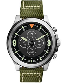 Men's Tech Latitude HR Green Nylon Strap Hybrid Smart Watch 50mm