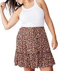 Curve Penny Tiered Mini Skirt