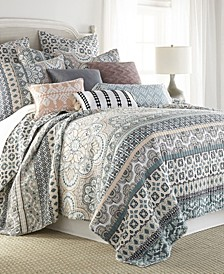 Addie Mediterranean Medallion Reversible Full/Queen Quilt Set