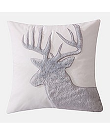 "Camden 18"" x 18"" Faux Fur Deer Decorative Pillow"