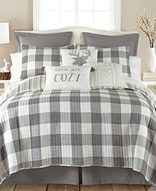 Camden Buffalo Check Reversible Full/Queen Quilt Set