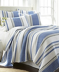 St. Bart Stripe King Quilt Set