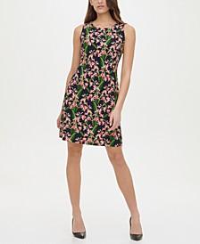 Amazon Floral-Print A-Line Dress
