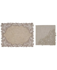 Embroidered Lace Napkin Placemat Set of 4