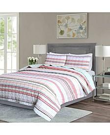 Seersucker Stripe 3-Piece Full/Queen Quilt Set