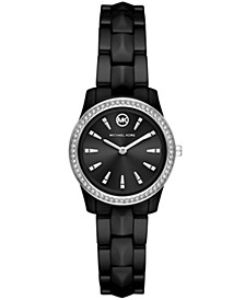 Runway Mercer Three-Hand Black Ceramic Watch