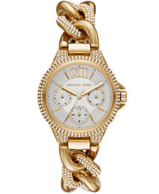 Michael Kors Camille Multifunction Gold-Tone Stainless Watch