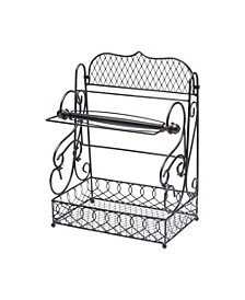 Scroll basket with removable paper towel holder