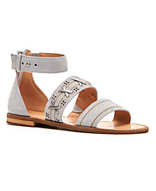 Frye & Co Women's Evie Whipstitch Banded Flat Sandals