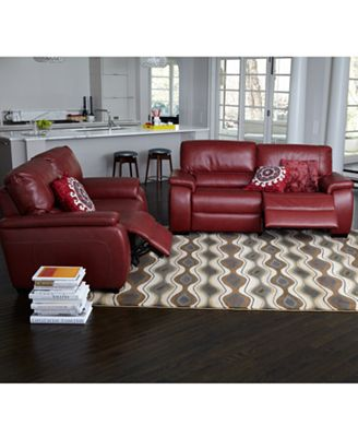marchella leather sofa living room furniture sets & pieces, power